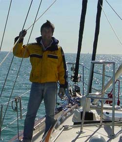 Carlos Bravo is an avid sailor as well as an accomplished pilot
